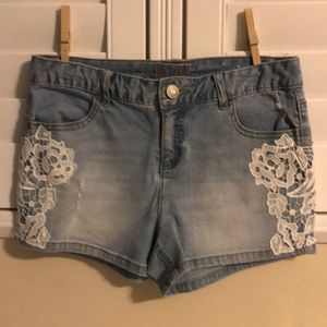 Denim Shorts with Lace from Justice